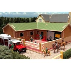 Brushwood Toys Model Farm Buildings - Wooden 1:32 Scale Farmyard Sheds & Barns | eBay