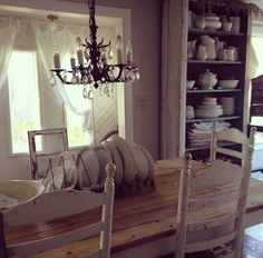 Farmhouse dining room (pinned from Sparrow on Instagram )