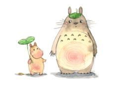 Totoro and Moomin troll Totoro, Troll, Moomin Tattoo, Notebook Design, Miyazaki, Anime Chibi, Watercolour, Body Art, Doodles
