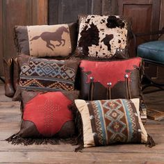 Decorative Pillows 565624034430247138 - Western Decor Stunning Western Throw Pillow Collection Source by elisablakley Western Rooms, Rustic Western Decor, Western Style, Country Decor, Southwest Decor, Southwestern Decorating, Western Furniture, Rustic Furniture, Westerns