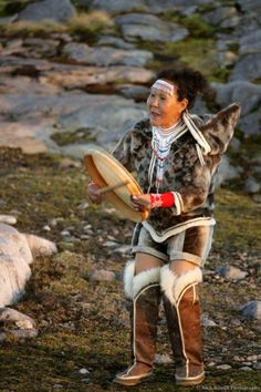 Traditional drum dance - Greenland