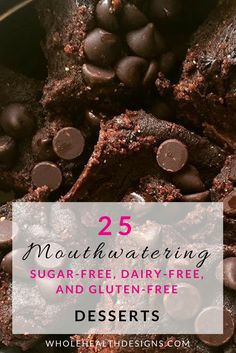 25 mouthwatering sugar-free, dairy-free, plant-based, and gluten-free desserts. Easy to make recipes for guilt-free treats. Easy Gluten Free Desserts, Gluten Free Cupcakes, Gluten Free Pie, Gluten Free Brownies, Gluten Free Treats, Gluten Free Baking, Healthy Dessert Recipes, Gluten Free Recipes, Dairy Free