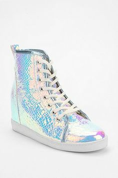 Deena & Ozzy Holographic Hidden Wedge High-Top Sneaker $49