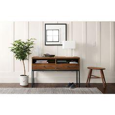 Linear Console Table in Walnut - Entryway - Room & Board