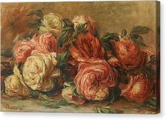 Discarded Roses  Canvas Print by Pierre Auguste Renoir