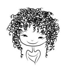 Cute girl smiling, sketch for your design – Millions of Creative Stock Photos, Vectors, Videos and Music Files For Your Inspiration and Projects. Painting Of Girl, Fabric Painting, Art Pop, Black Girl Art, Art Girl, Fantasy Character, Doodle Inspiration, Dibujos Cute, Girl Sketch