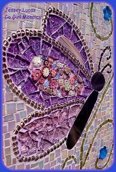 Purple Butterfly - detail by Go Girl Mosaics ~ Jessey in Oregon, via Flickr