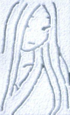 Twitter / aoki818: 雪に描いた雪女 #SnowCanvas ...