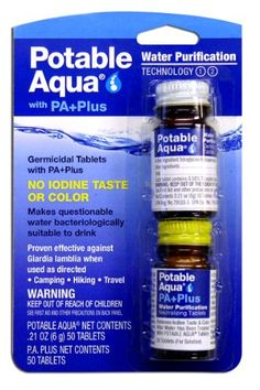 Potable aguamarina tabletas de purificación de agua con Pa Plus  #PaPlus