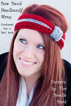 Gehäkelte Bow Band Stirnband PDF Crochet Pattern von TheNeedleNerd