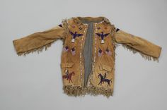 Buffalo Bill Center of the West Indian Male, Male Clothing, Beaded Jacket, Native American Artifacts, Online Collections, American Indians, Beadwork, Traditional, Patterns