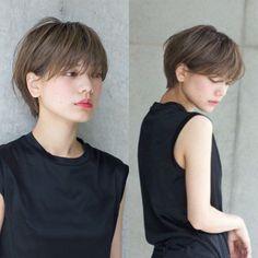 For the awkward growing out stage - Style - Japanese Short Hair, Japanese Haircut, Korean Short Hair, Short Hair Tomboy, Girl Short Hair, Short Hair Cuts, Shory Hair, Hair Dos, Shot Hair Styles