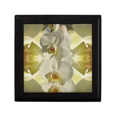 White orchid bridesmaid keepsake box