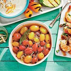 Use a mixture of baby tomatoes such as 'Sweet 100,' 'Yellow Pear,' or 'Sun Gold'--all are available at farmers' markets this time of year. This dish uses 3 pints of tomatoes, but feel free to halve the recipe.