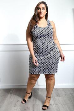 Energy plus size printed mini dress erica lauren plus size maxi dresses, . Big Girl Fashion, Curvy Fashion, Plus Size Fashion, Women's Fashion, Casual Dresses Plus Size, Plus Size Casual, Casual Cotton Dress, Cotton Dresses, Girls Maxi Dresses