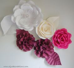 large oversized paper flowers