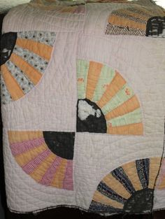grandmother's fan quilt pattern | Grandmother's Fan Quilt @merchanships31 #quilt #vintage #grandmother's ...