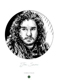 game of thrones, got drawing, ink drawing, portrait Jon Snow, Hand Painted, Ink, Game, Portrait, Canvas, Drawings, Unique Jewelry, Painting