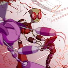 OMG what happened!<<<Why do you hurt me like this? Invader Zim Dib, Invader Zim Characters, Sad Art, Adult Cartoons, Pretty Art, Funny Comics, Creepy, Cool Art, Fandoms