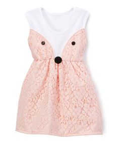 Another great find on #zulily! Peach Fox Bow Sleeveless Dress - Infant & Toddler #zulilyfinds