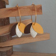 Diy Clay Earrings, Diy Leather Earrings, Polymer Clay Jewelry, Leather Jewelry, Leather Gifts, Leather Craft, Jewelry Crafts, Handmade Jewelry, Make Your Own Jewelry