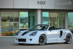 Whiteside Customs just completed this custom wide body MR2 Spyder on Forgeline GA3 wheels finished with Satin Black centers and Polished outers with a red pinstripe. See more at: http://www.forgeline.com/customer_gallery_view.php?cvk=1067 #Forgeline #GA3 #notjustanotherprettywheel #madeinUSA #Toyota #MR2 #Spyder