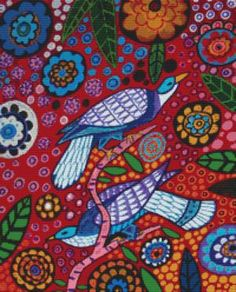 red bird tapestry
