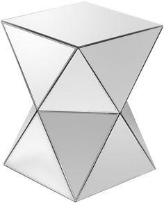 Febland Triangles Mirrored Pedestal Table