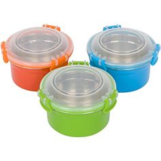 Steelware Snap Seal Leakproof Stainless Steel Lunch Box Containers and Food Storage Snack Containers for Kids and Adults Set of 3  12 oz each BlueGreenOrange * Check out this great product.