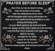 Prayer for bedtime.
