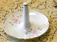 Mother's Day present  fine porcelain floral ring by TeaCrockery, $8.00