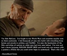 Hub McCann speech from Secondhand Lions.....one of the best movie speeches ever.
