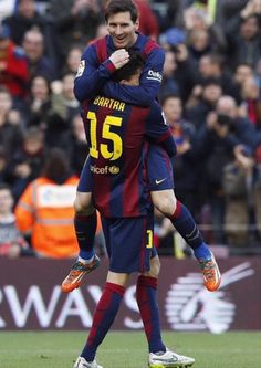 Lionel Messi & Marc Bartra