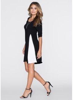 Jerseykleid, BODYFLIRT, schwarz/wollweiß