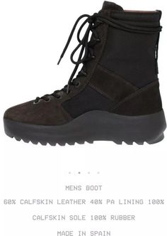 f54a648123426 Yeezy Season 3 Military Boot Onyx Shade Retail  645USD 100% Authentic Size  10 US