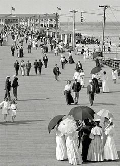 Jersey Shore- 1905 This is crazy comparing the shore then to it now. WOW
