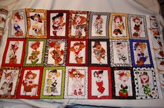 21 Adorable Lady Characters that LOVE to sew on this fabric panel! Sewing FUN!!!