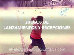 Juegos de lanzamientos y recepciones en educación física