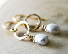 Holiday Sale Pearl Drop Earrings Freshwater Pearl June by PoleStar