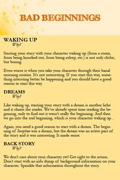 Some helpful tips for how to begin your story | Writing prompts ...
