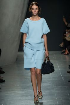 Pantone Colour Report Spring 2015 trends / aquamarine / how to wear aquamarine / outfit ideas / fashion collections S/S 2015 / Bottega Veneta Spring 2015 / via fashioned by love british fashion blog