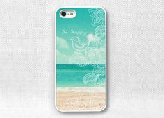iPhone 5 Case, iPhone 5 Cover, iPhone 5 Cases - Be Happy Beach  - 115. $15.00, via Etsy. really want this :(