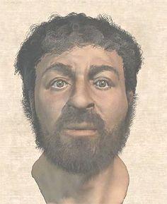 """Del """"buen pastor"""" de las catacumbas al """"ecce homo"""" de Borja.  """"Es un hombre alto, de buena forma, de aspecto amigable y reverendo, su cabello es del color de la castaña bien madura, liso hasta las orejas, rizado y ondulado alrededor de sus hombros, partiéndose en la coronilla de la cabeza al estilo de los Nazarita... Es cuanto puede leerse en la carta que el cónsul Publio Léntulo, gobernador de Judea en vida de Jesús, antes de Poncio Pilato, escribió al emperador Tiberio o al Senado romano."""