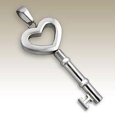 Key to your heart ,Awww Key Jewelry, Diamond Jewelry, Unique Jewelry, I Love Heart, Key To My Heart, Shrink Art, Old Keys, Key Lock, Key Pendant