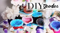 """truebluemeandyou: """"DIY Polymer Clay Faux Crystal Geode Tutorial from Life Ann Style.This is a cool tutorial using a baked polymer shell immersed in ALUM (she saw Martha Stewart using egg shells and..."""