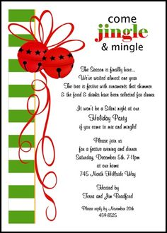 christmas invitations wording samples