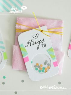 Tags confettis - DIY