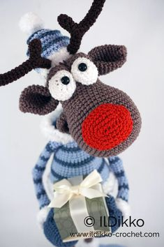 Excited to share the latest addition to my shop: Amigurumi Crochet Pattern - Rudolf the Reindeer XL - English Version Christmas Crochet Patterns, Crochet Animal Patterns, Stuffed Animal Patterns, Crochet Christmas, Crochet Animal Amigurumi, Crochet Dolls, Catania, Cute Crochet, Crochet For Kids