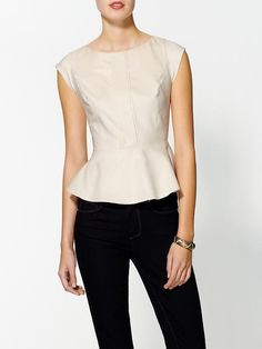 Piperlime   Sueded Peplum Blouse I really like it in the picture but wonder if the style might look too armor-like in real life ?