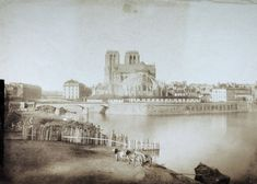 The Notre Dame Cathedral in Paris caught fire, causing catastrophic damage. Here's a look back at one of the city's most historic landmarks in the late century. Tour Eiffel, Great Photos, Old Photos, Musee Carnavalet, Paris Images, Paris Ville, 12th Century, Our Lady, Paris France